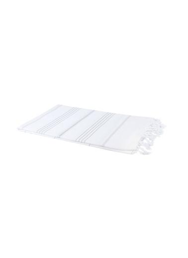 Bedinn 100 X 180 Cm Pamuk Ipliği Yıkanabilir Peşteplaj Peştemal Beyaz